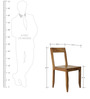 Nest Writer's cum Dining Chair in Light Teak Colour by DwellDuo