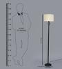 Toledo Floor Lamp in Off White by CasaCraft