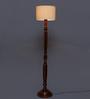 New Era Beige Cotton Floor Lamp