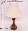 Naples Table Lamp in Off White by CasaCraft