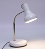 Tiber Study Lamp in Off White by CasaCraft