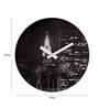 Nextime Black Plastic 15.4 Inch Round The City Wall Clock