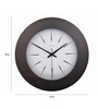 Nextime Brown Stainless Steel 18 Inch Round Wall Clock