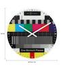 Nextime Multicolour Glass 16.9 x 1 Inch La Mire Round Wall Clock
