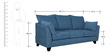 Nikole Three Seater Sofa in Steel Blue Colour by CasaCraft