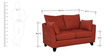 Nikole Two Seater Sofa in Rust Colour by CasaCraft