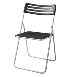 Nilkamal Cruz Folding Chair - Black