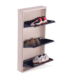 Nilkamal Estilo Blue 3 Door Metal Shoe Rack