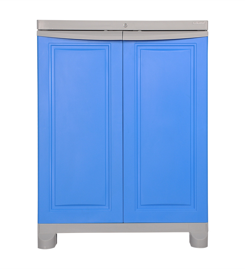 Nilkamal Freedom Deep Blue And Grey Mini Storage Cabinet