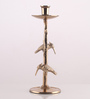 Ni Decor Gold Metal Exclusive Candle Stand with Two Birds