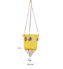 Ni Decor Yellow Metal & Glass Hanging Lantern