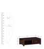 Edmonds Coffee Table in Provincial Teak Finish by Woodsworth