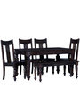 Nicolas Six Seater Dining Set in Warm Chestnut Finish by Amberville