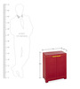 Freedom Mini Small Cabinet in Red Colour by Nilkamal