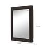 Nilkamal Gem Black Mirror Cabinet