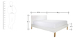 Noah Queen Size Bed in Brown & White by Asian Arts