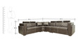 Nova Corner Sectional Sofa with Lounger with Leatherette Upholstery by Star India