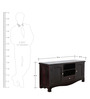 Edmond Entertainment Unit in Passion Mahogany Finish by Amberville