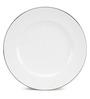 Noritake Platinum White Porcelain Plain Half Plate - Set of 6