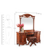 Norman Dressing Table in Red Colour by Durian