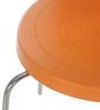 Novella 15 Stainless Steel Chair in Orange Colour by Nilkamal