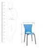Novella Chair in Blue Colour by Nilkamal