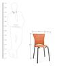 Novella Chair in Rust Colour by Nilkamal