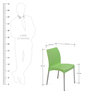 Novella Series - 7 Set of 2 Chairs in Green Color by Nilkamal