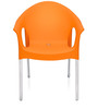 Novella Series - 9 Set of 2 Chairs in Orange Colour by Nilkamal