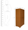 Novelty Big Storage Cabinet in Brown Colour by Cello