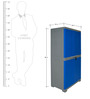 Novelty Big Storage Cabinet in Grey & Blue colour by Cello