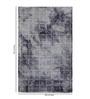 Obeetee Blue & Ivory Wool 96 x 60 Inch Distress Carpet