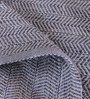 Obeetee Blue Polyester 72 x 48 Inch Chevron Carpet