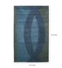 Obeetee Green Wool 96 x 60 Inch Lagoon Carpet