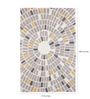 Obeetee Ivory Wool 108 x 72 Inch Mosaic Circle Carpet