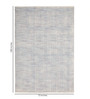 Obeetee Lagoon Wool 108 x 72 Inch Parallels Carpet