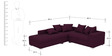 Oceanus Six Seater RHS Sofa Set in Deep Orchid Finish by CasaTeak