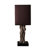 OddCroft Brown Fabric Gnarled Wild Table Lamp