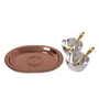 Ojas Silver Stainless Steel Home & Kitchen Silver Plated Gifting Set