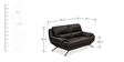 Oliver Two Seater Sofa in Black Colour by Durian
