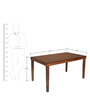 Olenna Six Seater Dining Table by @Home