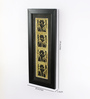 Olha-O Black & Gold Metal and Synthetic Wood Jaali Frame