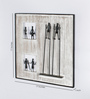 Olha-O Black & Silver Wood and Wrought Iron Frame Dancing Figurines Wall Hanging