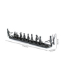 Olha-O Black Wrought Iron Naav with Figurines Showpiece