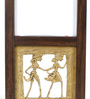 Olha-O Brown & Gold Metal & Synthetic Wood 4.9 x 3.3 x 8.7 Inch Photo Frame