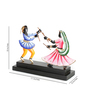 Olha-O Multicolour Wood & Wrought Iron Garbha-2 Figurine