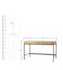 Oliver Industrial Study Desk in Light Brown & Black Colour by Asian Arts
