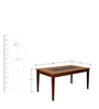 Olivia Six Seater Solid Wood Dining Table in Brown Colour by @Home