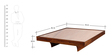 Omaha King Bed in Provincial Teak Finish by Woodsworth