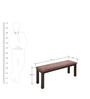 Omaha Two Seater Dining Bench in Brown Colour by @ Home